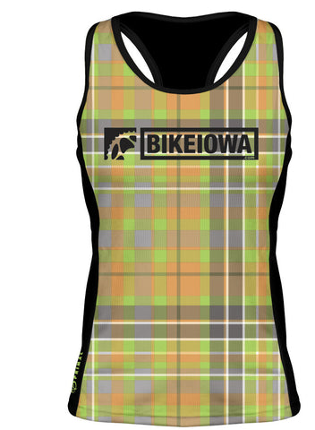 "BIKEIOWA ""Plaid is Rad"" Women's Gemini Tank"