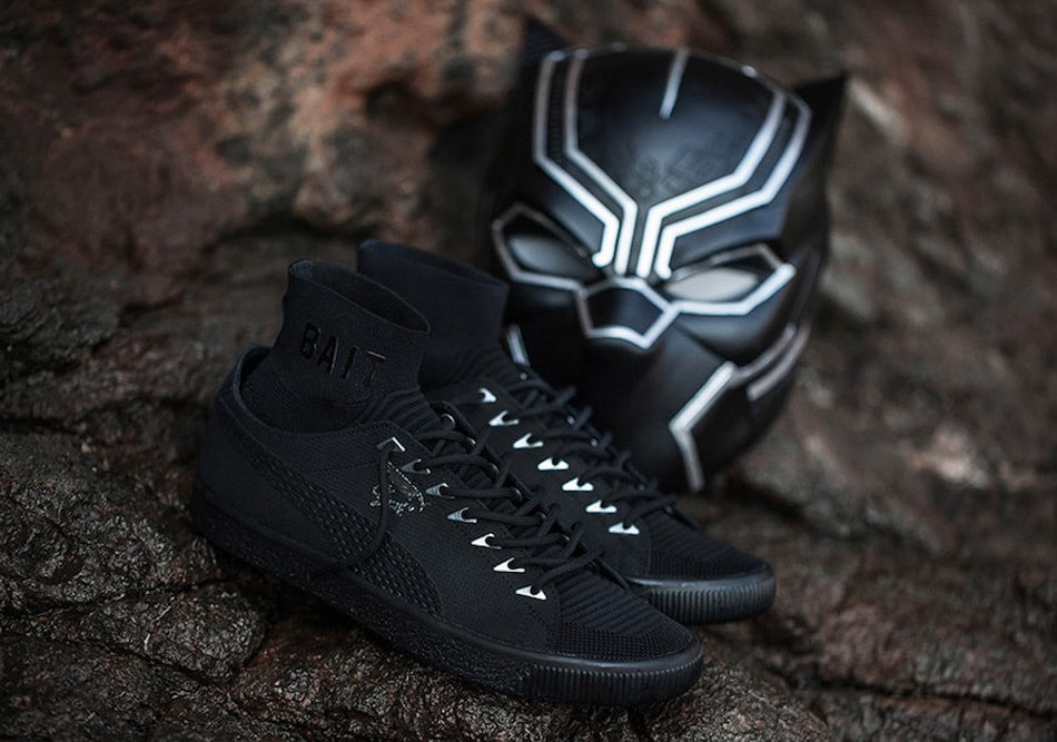 BAIT x PUMA Clyde Sock x Marvel Black Panther Release