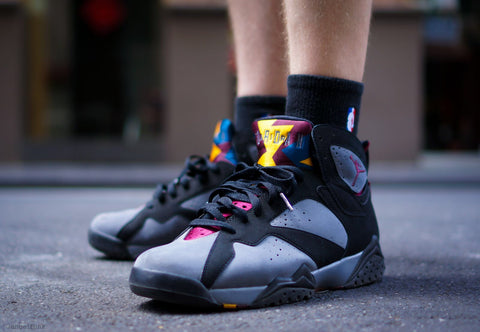 detailed look e3254 5ebbc Air Jordan 7 Retro Black Bordeaux-Light Graphite-Midnight Fog 304775-034.  July 18, 2015