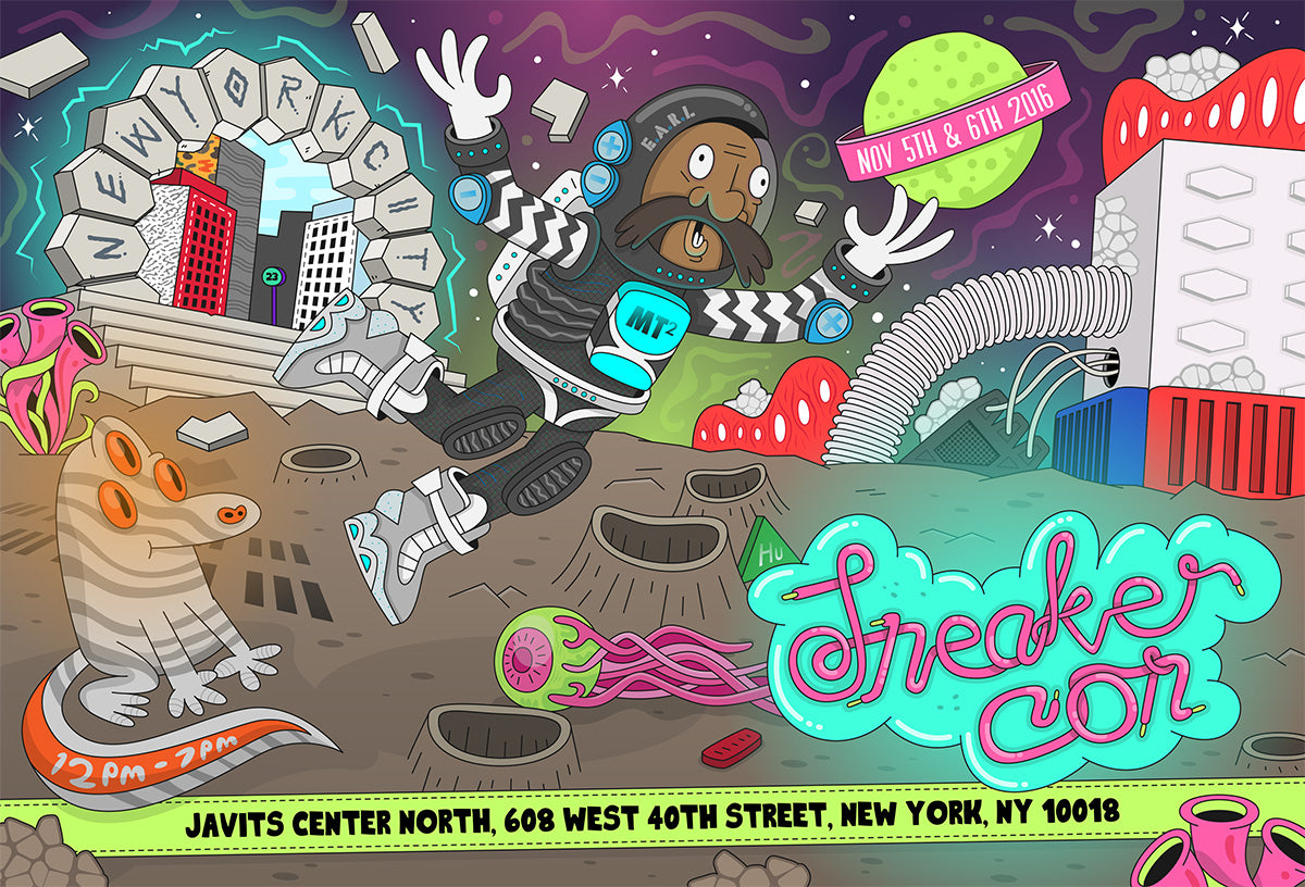 2016 sneaker con nyc shirt 8and9 collaboration flyer