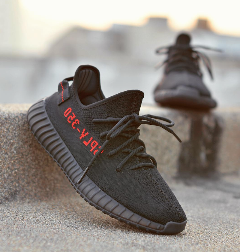 Adidas Yeezy Boost 350 V2 Black And Red (1)