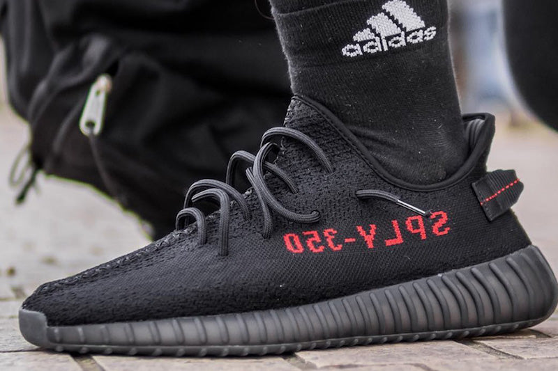 Adidas Yeezy Boost 350 V2 Black And Red (2)