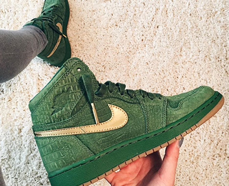 "Air Jordan 1 ""Green Croc Suede"""