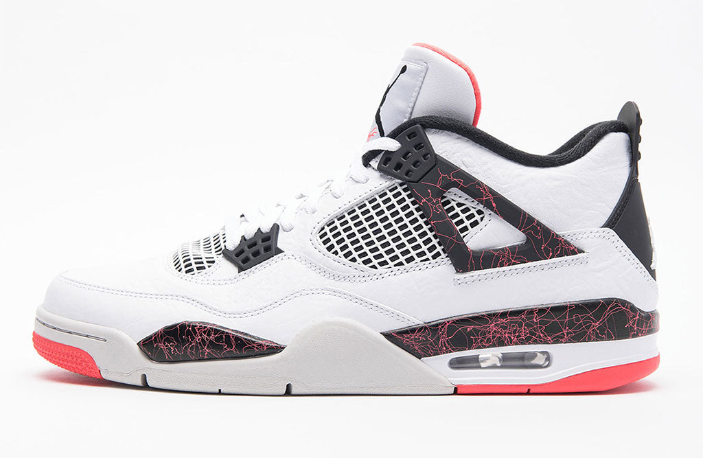 61f037fcd78 Air Jordan 4 Retro White Black Bright Crimson Pale Citron