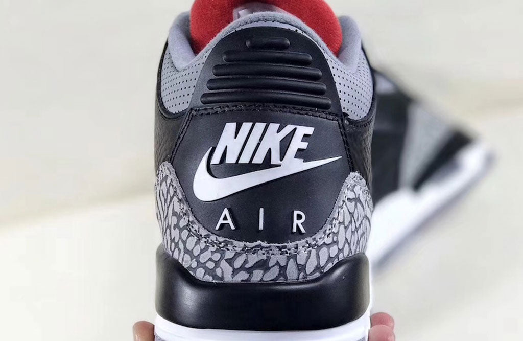 save off c6169 967f2 Air Jordan 3 OG Black Cement Heel