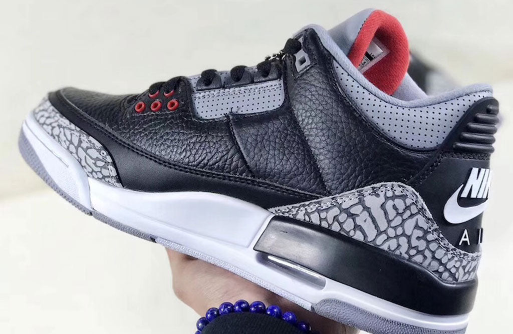 reputable site 2c3d6 295bf Air Jordan 3 OG Black Cement Inner