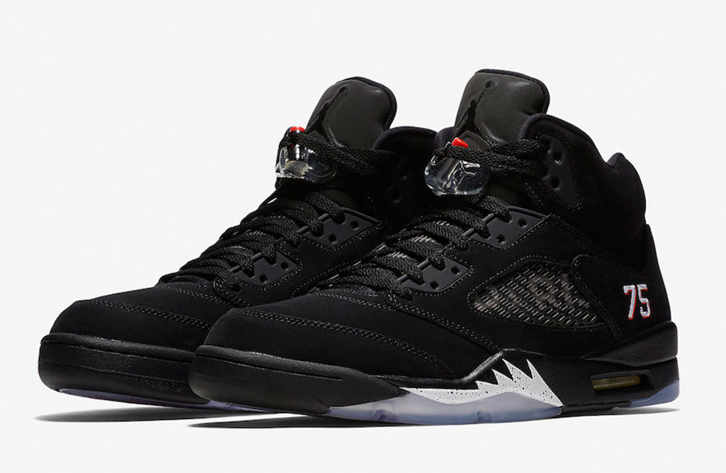 "finest selection b4b56 68063 Air Jordan 5 PSG. Air Jordan 5 ""PSG"" Color  Black White-Challenge Red Style  Code  AV9175-001. Release Date  September 19 2018"