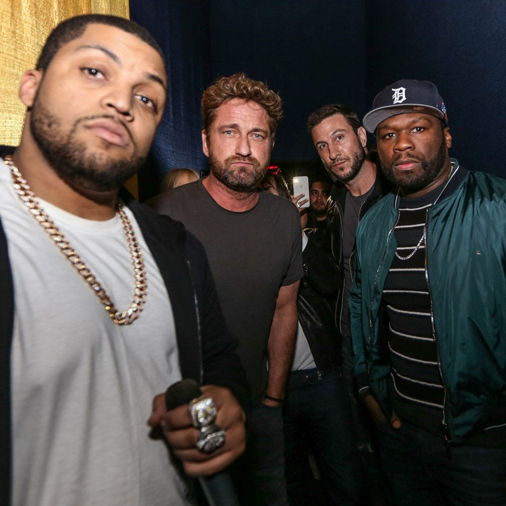 Gerard Butler & 50 Cent Drop In For The Miami Screening of Den of Thieves