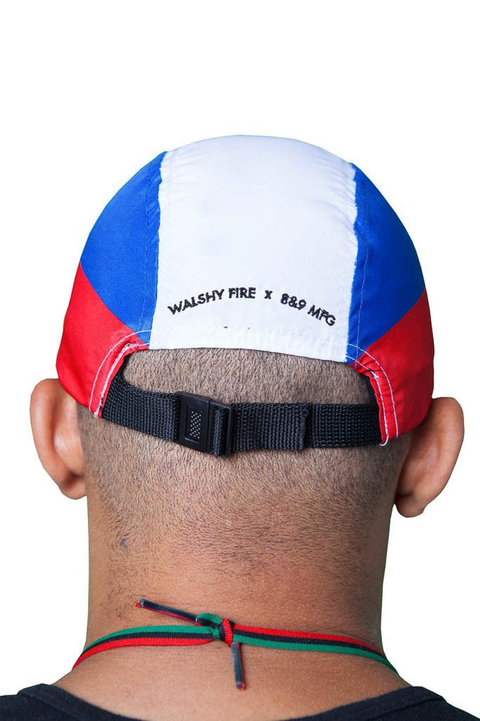 Haiti Nylon Cycling Hat Collab with Walshy Fire x 8&9 back
