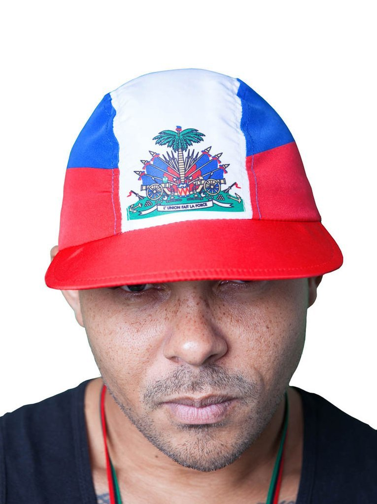 Haiti Nylon Cycling Hat Collab with Walshy Fire x 8&9 front