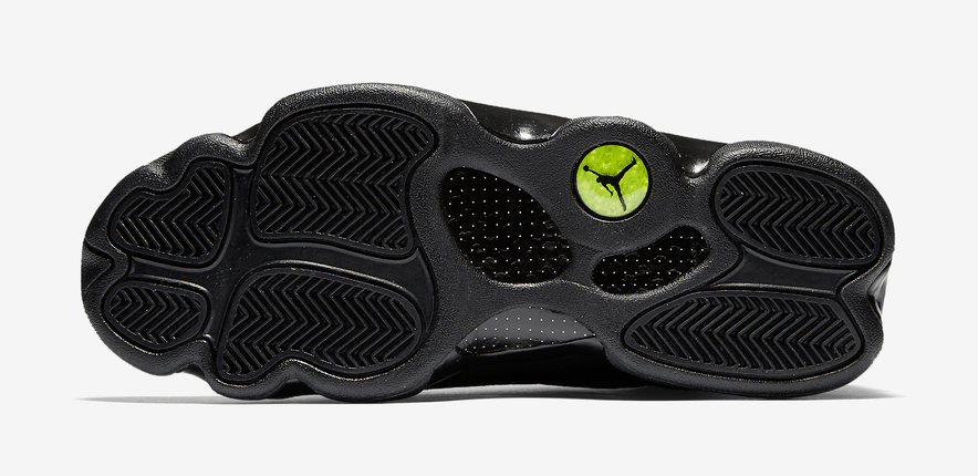 Jordan 13 Black Cat sole