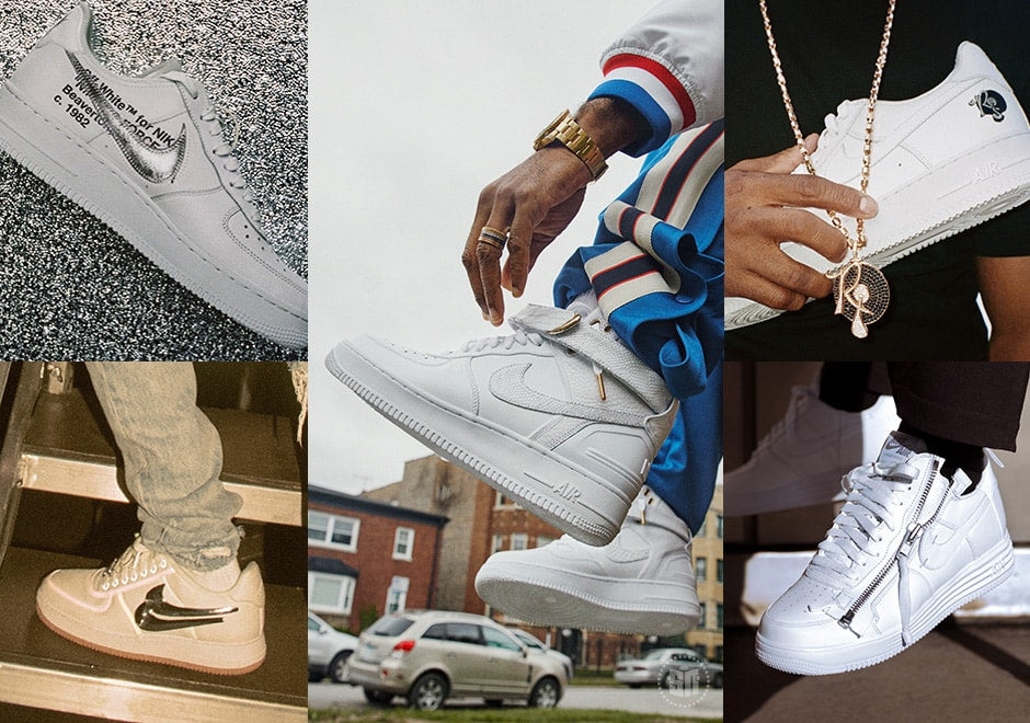 Nike Af100 Collection Five White Air Force 1s Designed By Travis