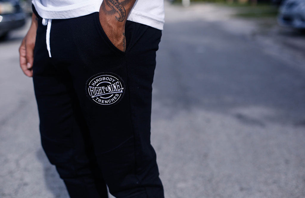 New HardBody Jogger Sweatpants Added In 3 Colors! black detail