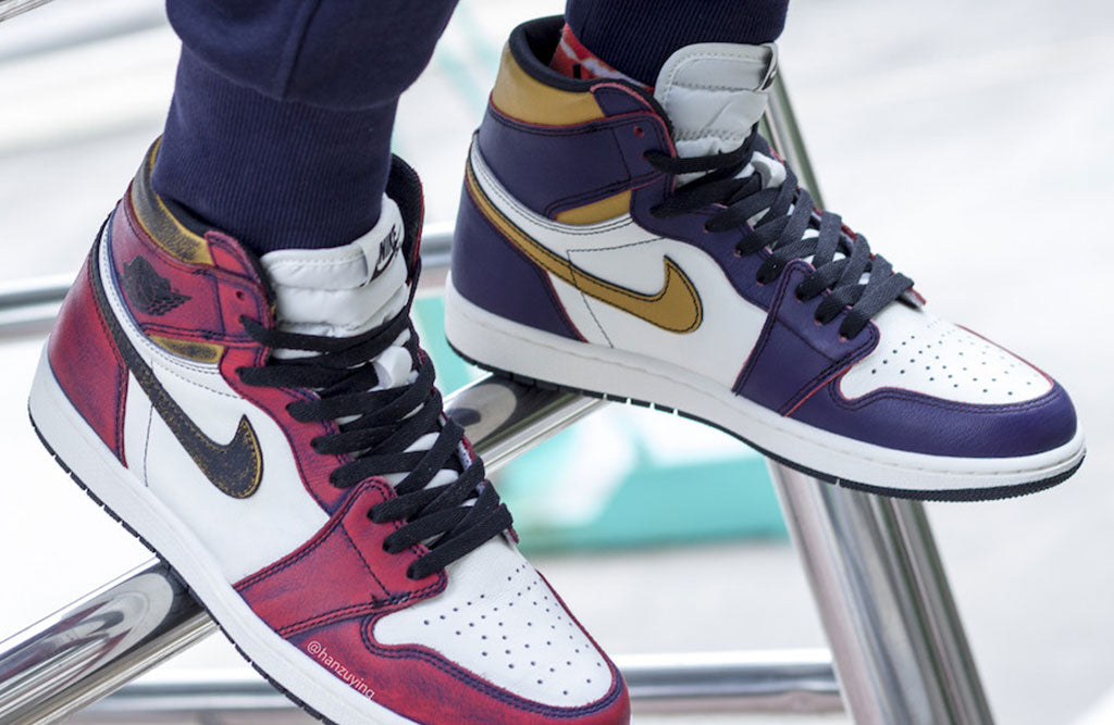 91d9763626c0 Nike SB Air Jordan 1 Lakers and Bulls Rivals