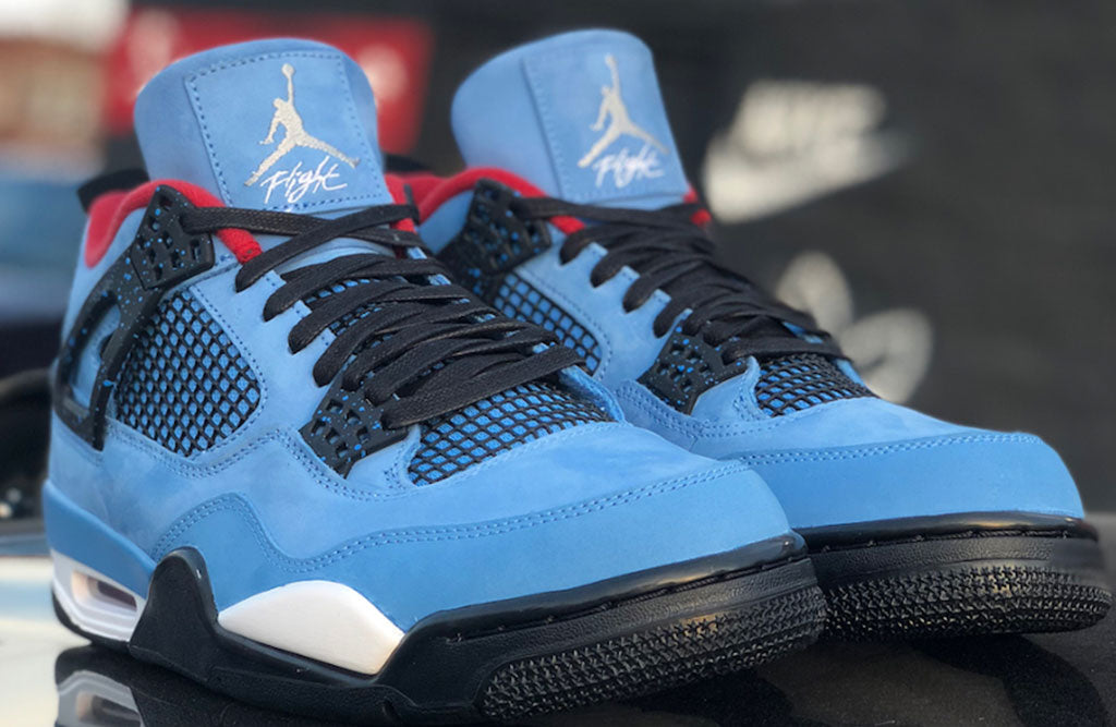 "9fd4f731d934 Travis Scott Air Jordan 4 Houston Oilers Release Date. Travis Scott x Air  Jordan 4 ""Houston Oilers"" Color  University Blue Varsity Red-Black Style  Code  ..."
