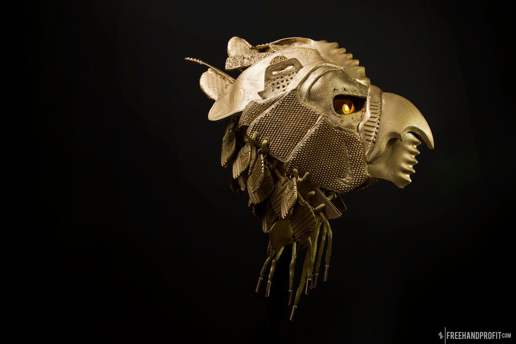 Golden Yeezy II Horus Mask