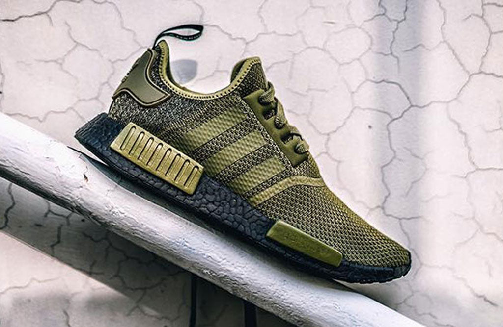 "Adidas NMD R1 ""Olive"" W Black Boost 8 & 9 Clothing Co.    Adidas NMD R1 ""Olive"" W Black Boost   title=          8&9 Clothing Co."