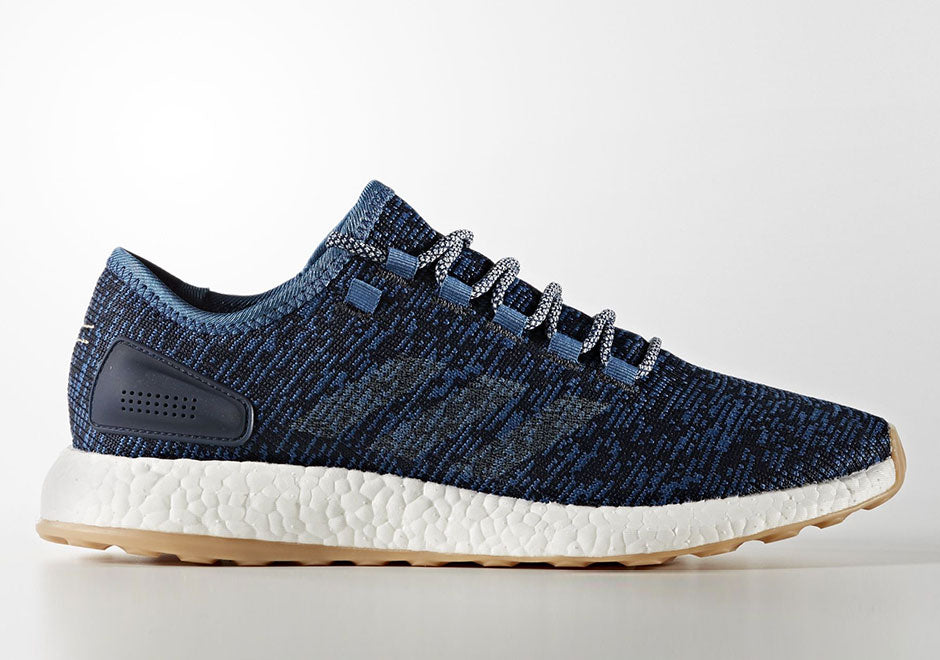 buy online c64b4 73699 adidas Dropping 5 Pure Boost Colorways February 2017 blue linen navy