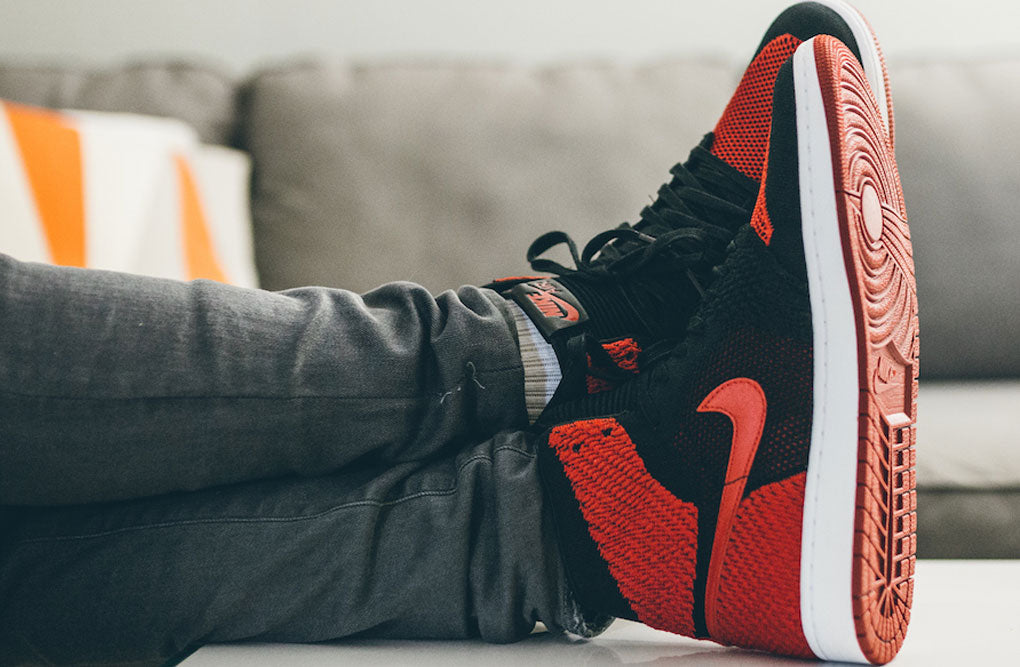 "On Feet Images Of Air Jordan 1 Flyknit ""Banned""  41ca0bf3e"