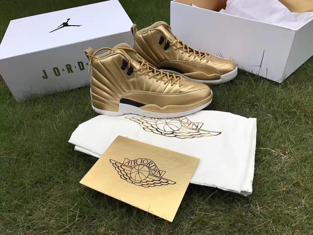 "buy popular ba121 da747 JORDAN 12 PINNACLE ""GOLD"" RELEASE 