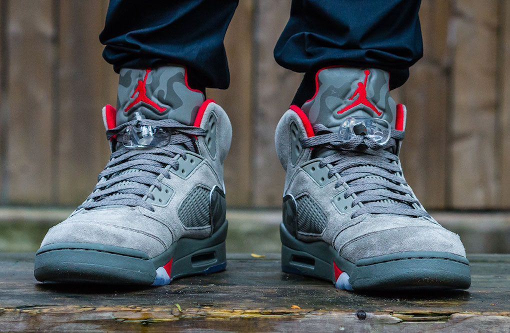 ddc5824f9da5 On Feet Images of 2017 Air Jordan 5 Camo Release