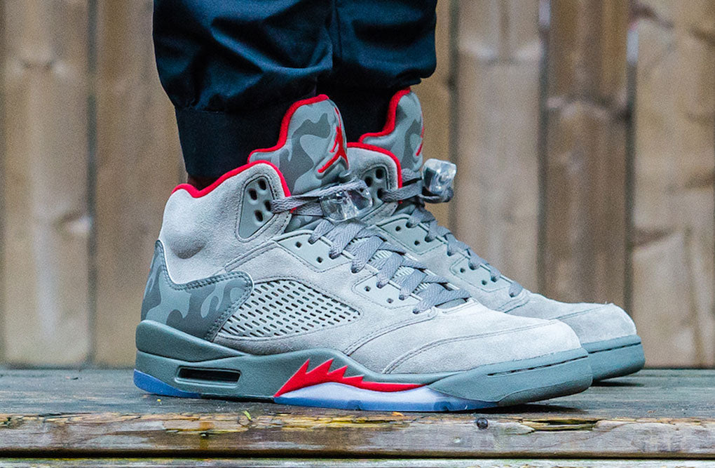 e13b08068259f6 On Feet Images of 2017 Air Jordan 5 Camo Release