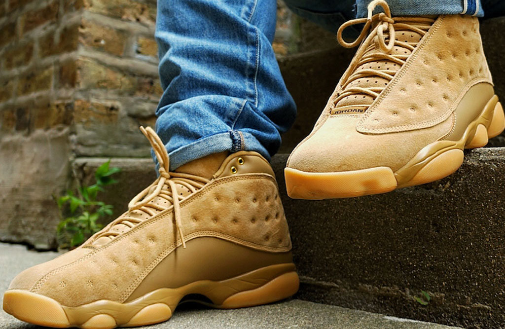 "ae511f50dfc On Feet: 2017 Air Jordan 13 ""Wheat"" Golden Harvest 