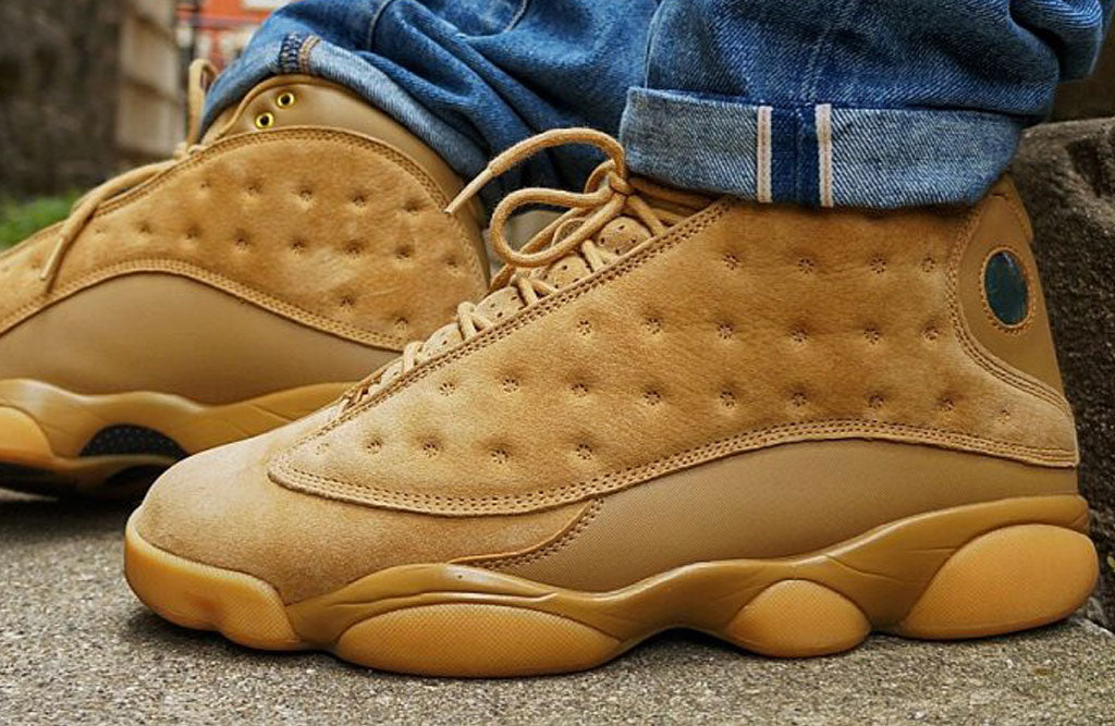 "bd1ac187dae On Feet: 2017 Air Jordan 13 ""Wheat"" Golden Harvest 
