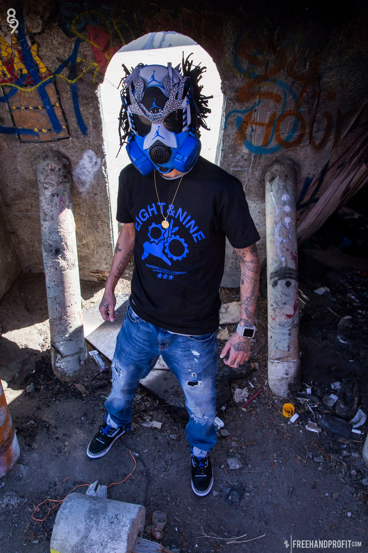 jordan sport blue 3 mask by freehand profit 8and9