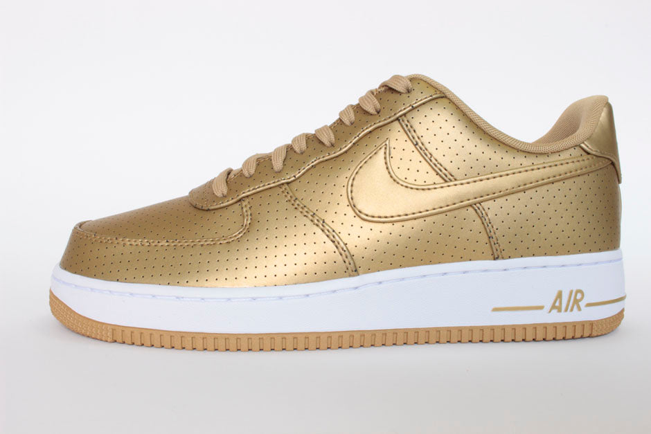 nike air force 1 weiss gold