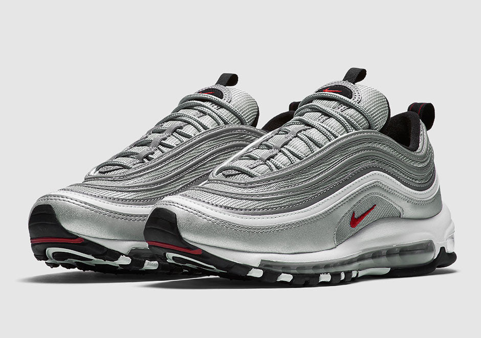 "detailed look 4c684 84141 Nike Air Max 97 OG ""Silver Bullet"" Releases 