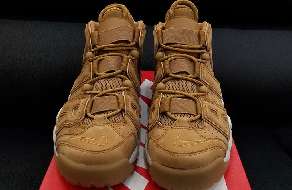 Nike Air More Uptempo Wheat Detailed Look  2fcd6a7fb029
