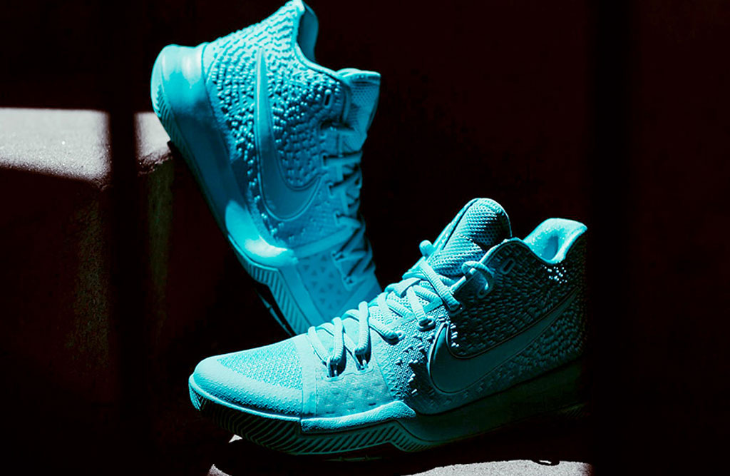 3896714959a6 Nike Kyrie 3 Aqua Tiffany Inspired By NBA Finals Game