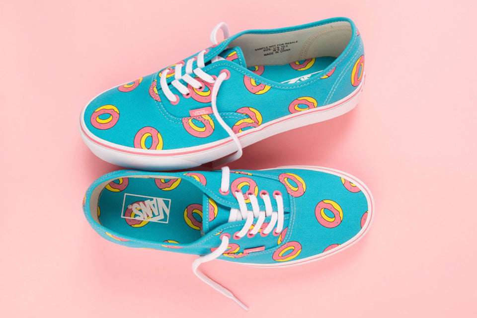 blue and pink vans tyler the creator