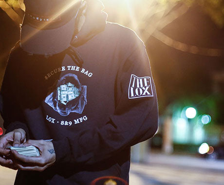 official 8and9 x the lox secure the bag merchandise hoodie