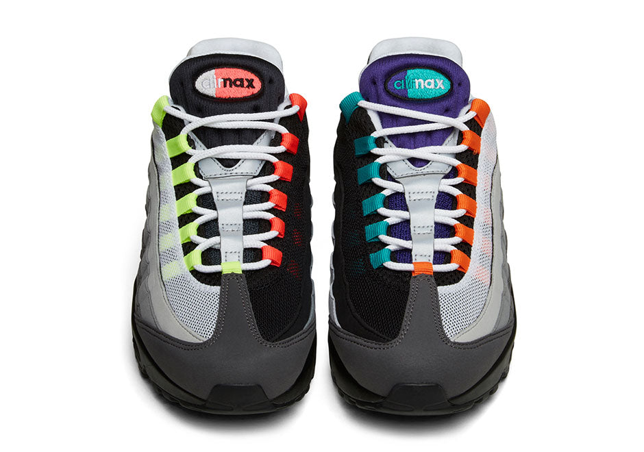 """reputable site 05f9e 1fa95 Nike Sportswear is ready to bring forth the first ever """"What The"""" Air Max  sneaker. The """"What The"""" Air Max 95 features a mix of all original colorways  of ..."""