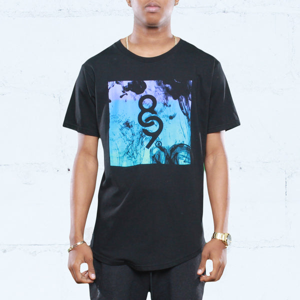 Aqua 8 Ink Square Curved Hem T Shirt