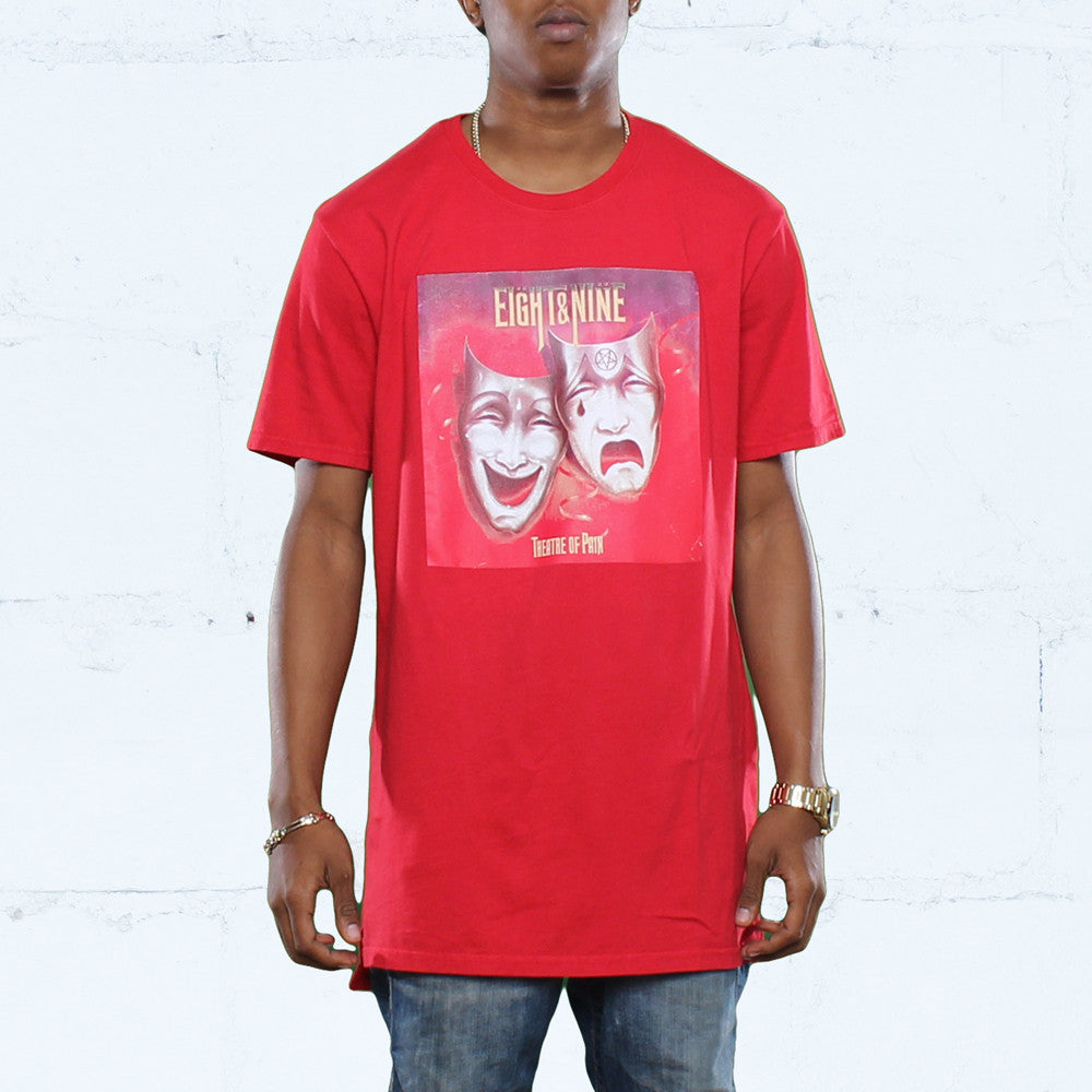 Pain Tour Elongated T Shirt Alternate Red