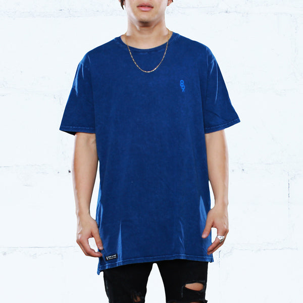 Navy Keys Elongated Mineral Wash T Shirt