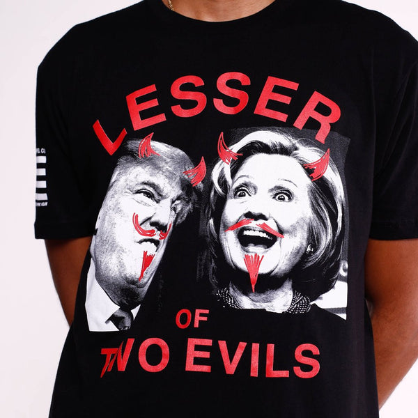 2016 Election T Shirt Lesser Of Two Evils (2)