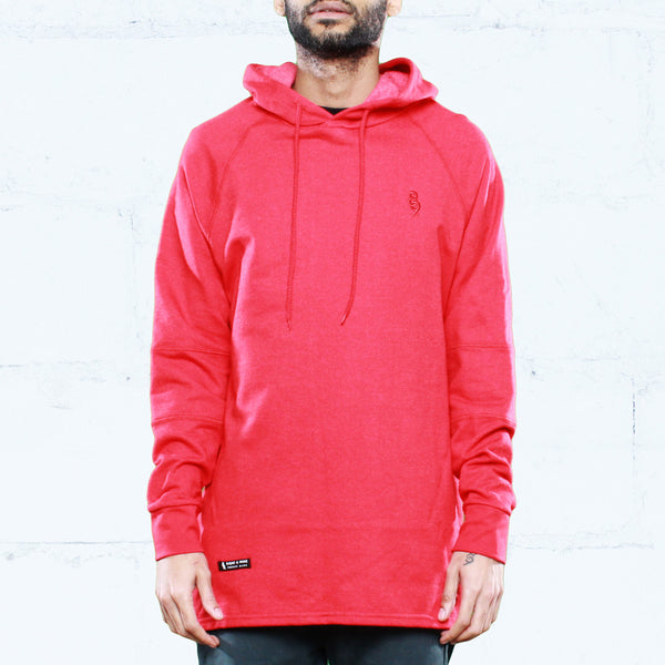 Rudimental Paneled Terry Hoodie Red