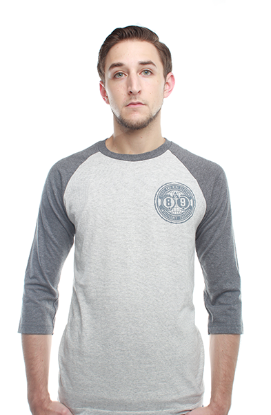Intel Squad Cool Grey 3/4 Sleeve Raglan Baseball Shirt - 2