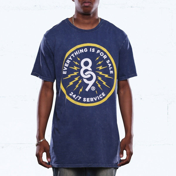 24/7 Service Navy Long Line T Shirt