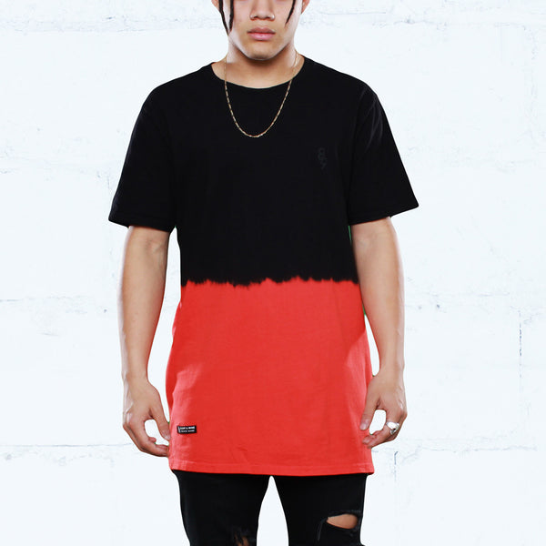 Keys Dip Dye Long Line T Shirt Infrared