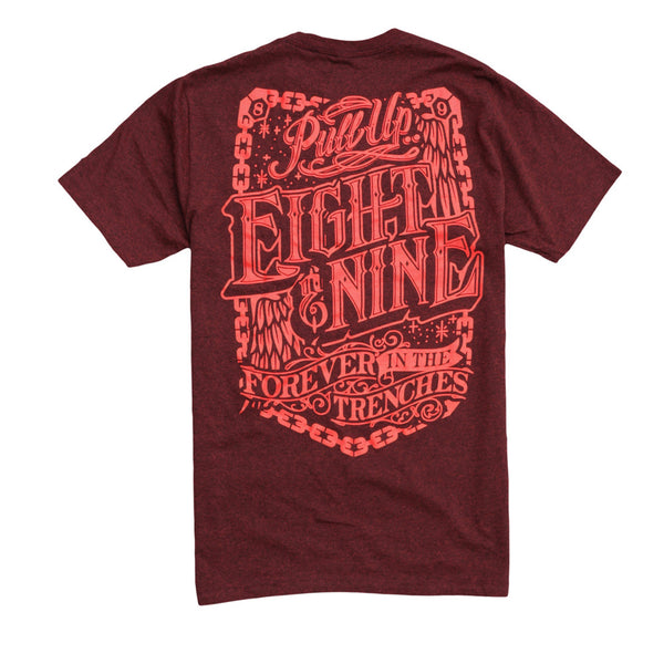 Pull Up Classic T Shirt Crimson - 3