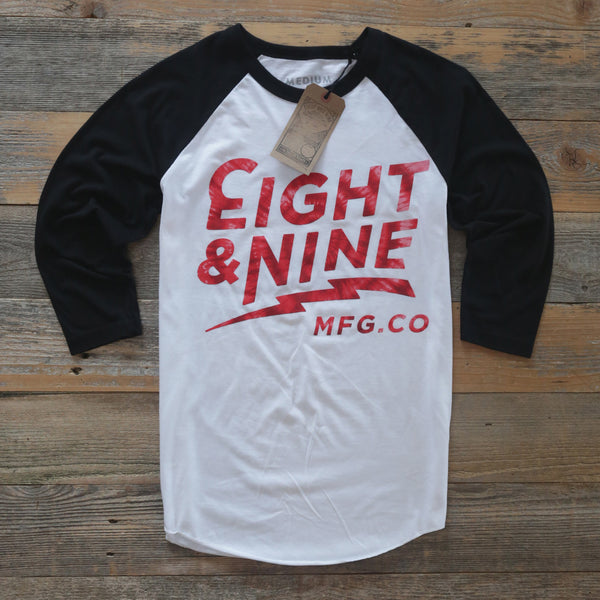 Cruise 3/4 Raglan Fire Red Dye