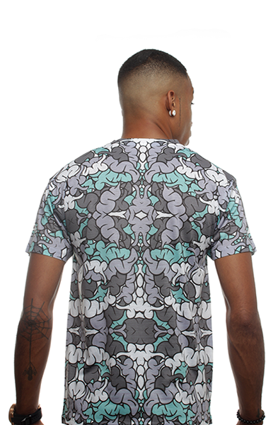 Green Glow Brain Camo Shirt - 3