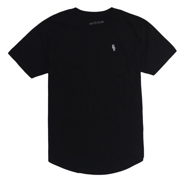 Curved Hem Mini Keys Shirt Black - 2