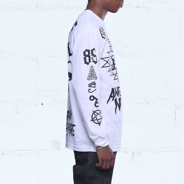 Love Jersey Tee L/S White