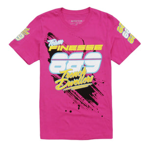 Team Finesse Jersey Tee Pink - 1